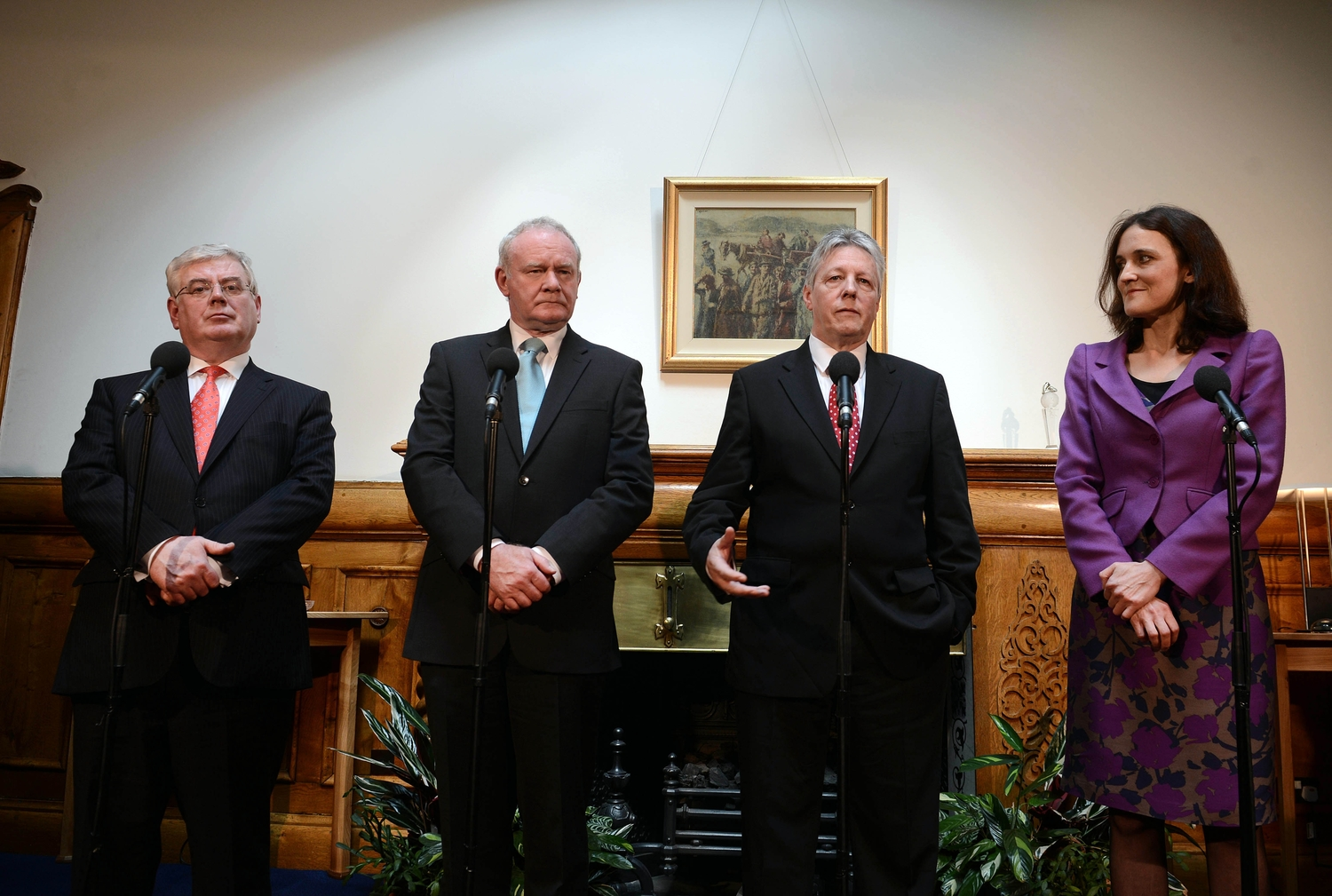 Peter Robinson & Martin McGuinness meet Theresa Villiers & Eamon Gilmore.