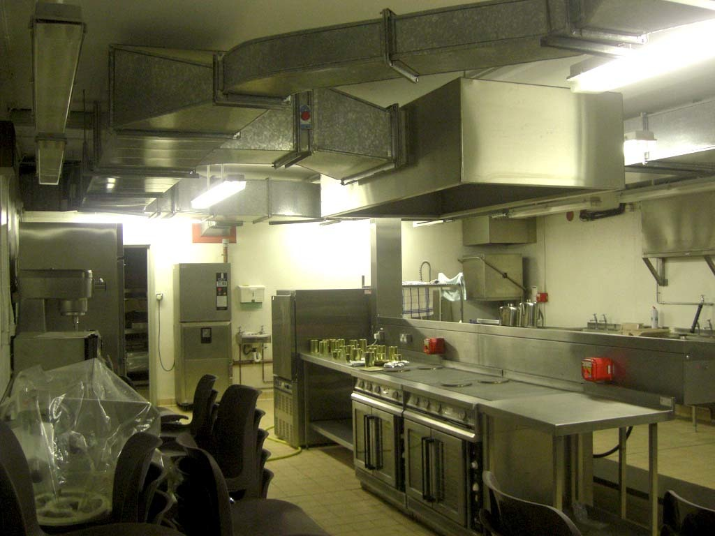 Kitchen facilities inside the nuclear bunker