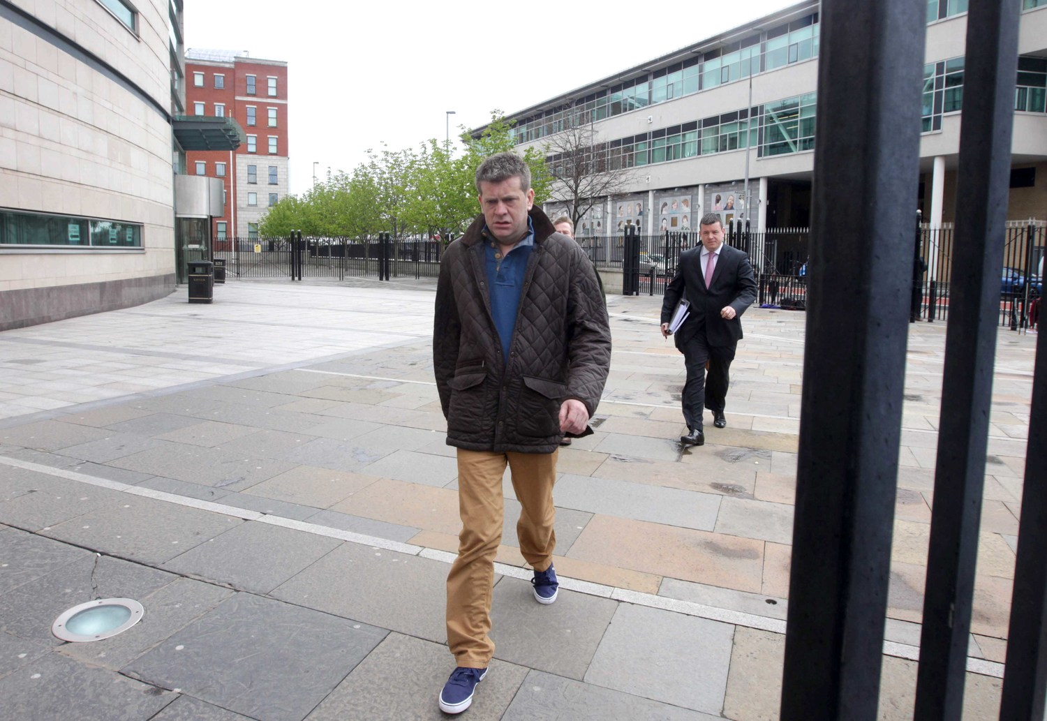 Brian Shivers leaving court today (Friday) after his acquittal for murder