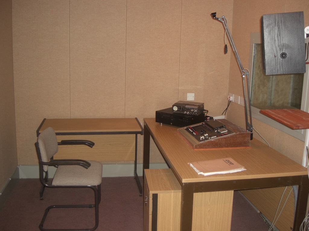 A broadcasting studio in the Ballymena bunker