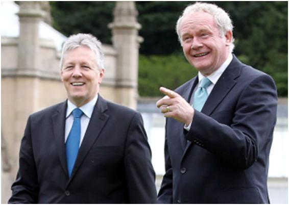Peter Robinson and Martin McGuinness say they want to build a shared future