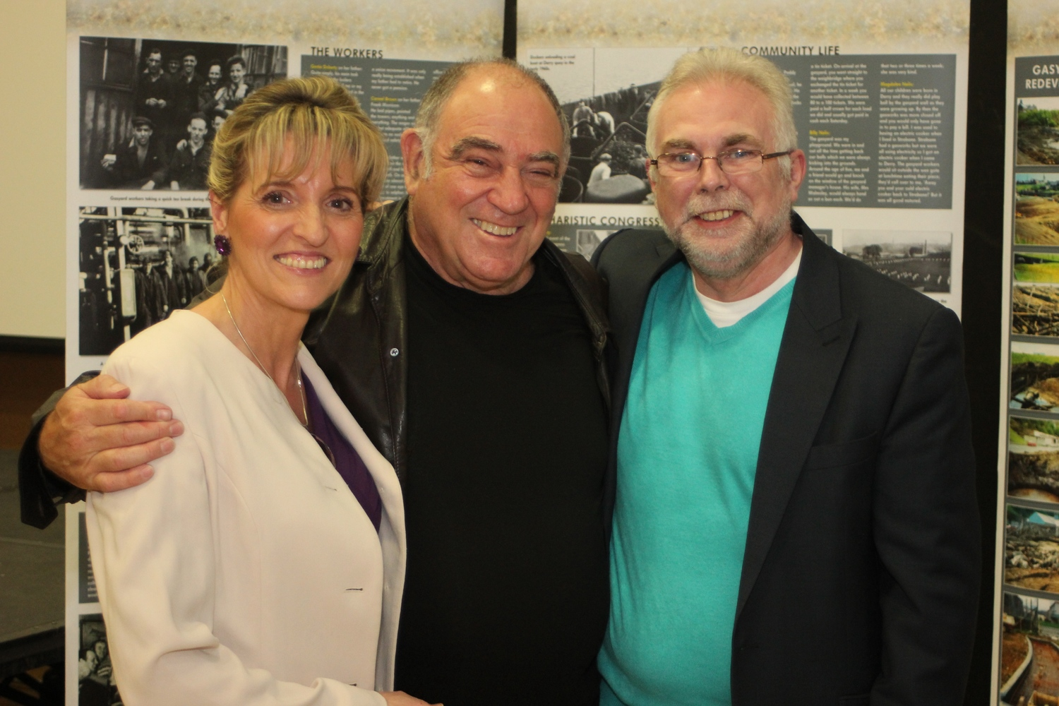 Sinn Féin adviser Paul Kavanagh, right, with the ANC's Ronnie Kasrils, & Martina Anderson MEP.
