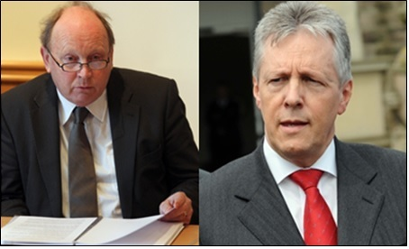 DUP leader Peter Robinson and TUV leader Jim Allister were at loggerheads