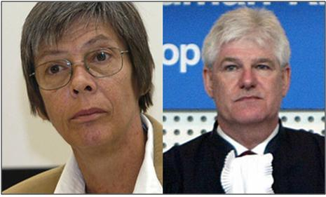 ECHR judges Zdravka Kalaydjieva (left) and Paul Mahoney (right)