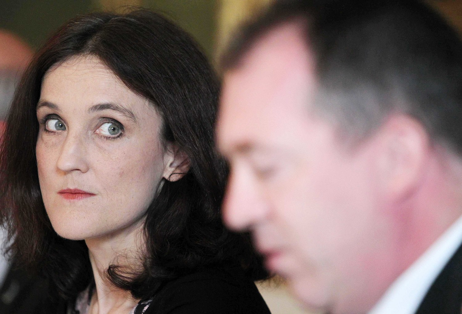 Secretary of State Theresa Villiers and Chief Constable Matt Baggott