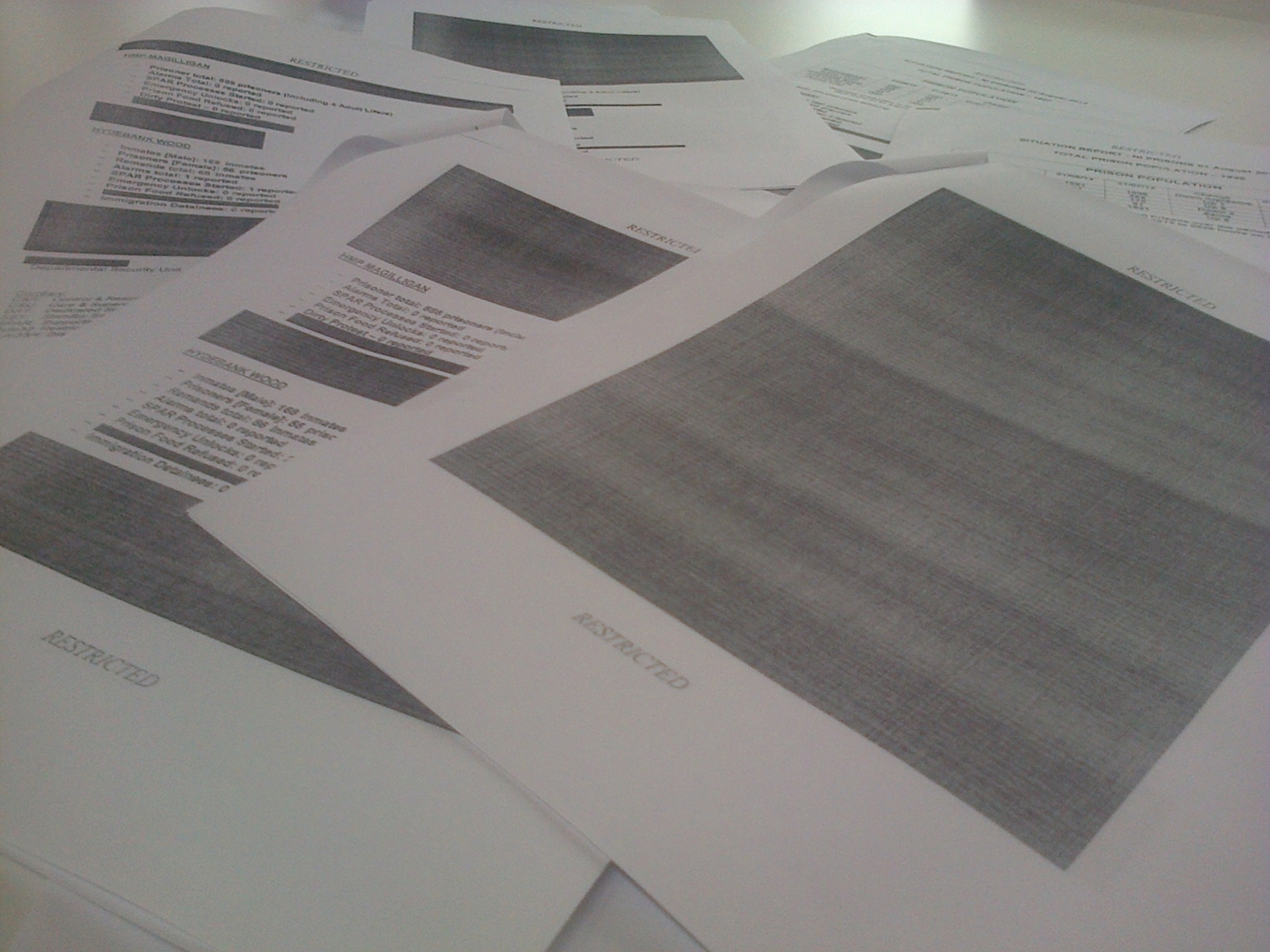 The Situation Reports were released under FoI but were heavily redacted