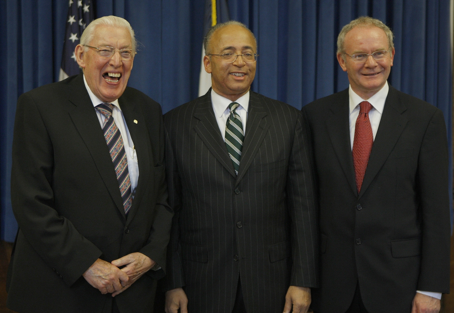 Ian Paisley and Martin McGuinness with New York comptroller