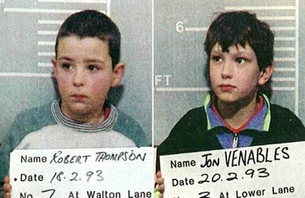 Young killers Robert Thompson and Jon Venables