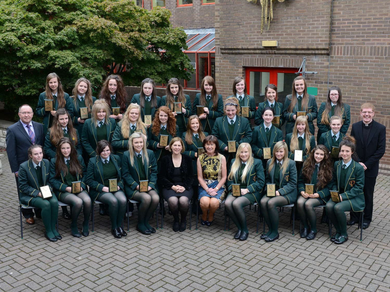 These St Catherine's College pupils all achieved between 8 and 12 A / A* GCSE grades in 2013