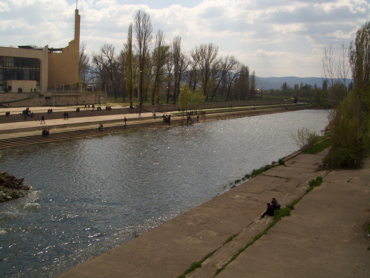 The Ibar river in Mitrovica acts as a wall between two communities