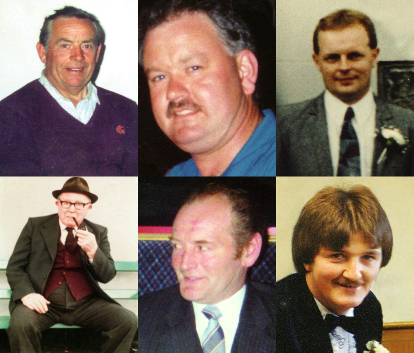 The six men killed in the Loughinisland massacre