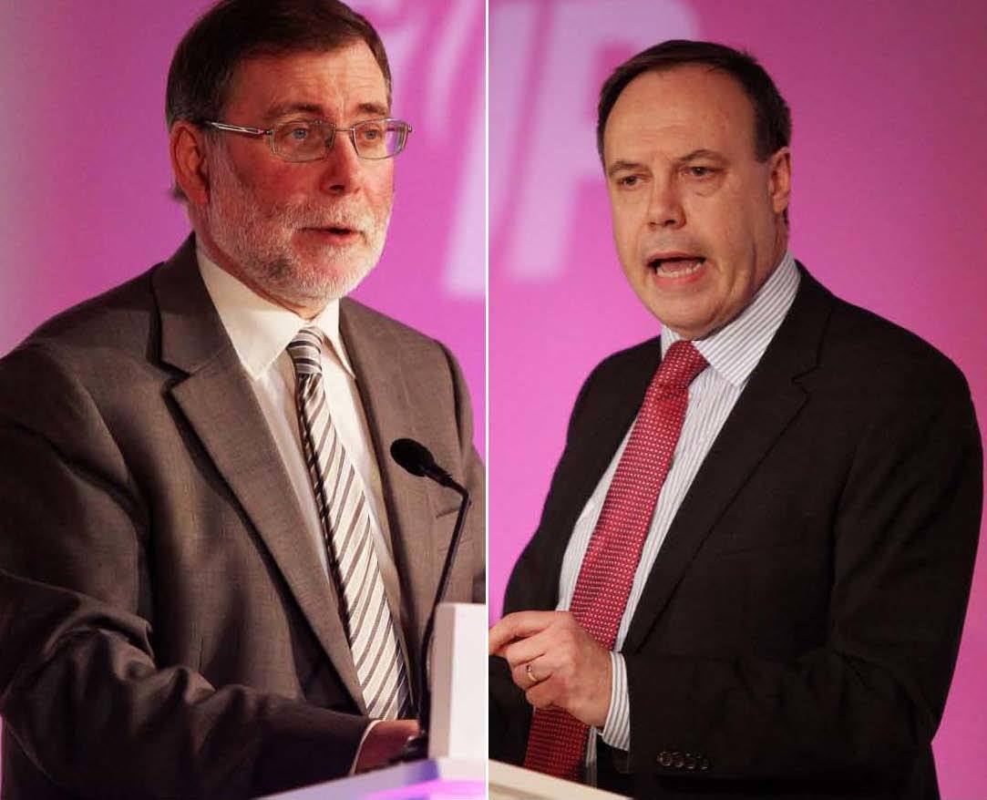 Nelson McCausland and Nigel Dodds