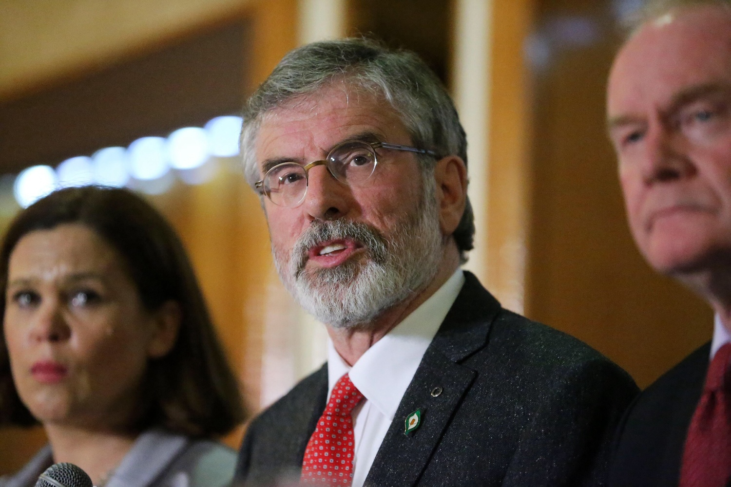 Sinn Féin President Gerry Adams after he was freed by police