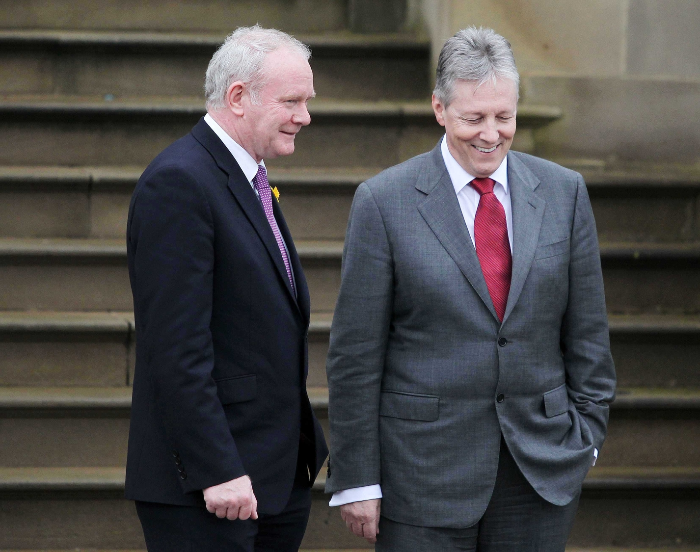 Martin McGuinness and Peter Robinson in happier times