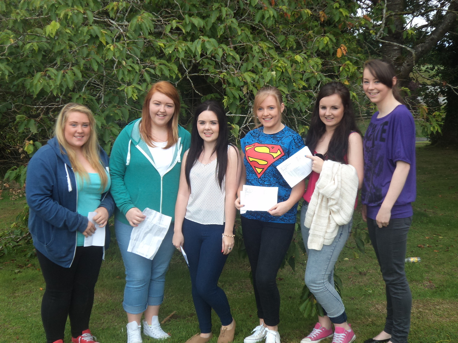 Pupils from St John's Business and Enterprise College on GCSE results day 2013