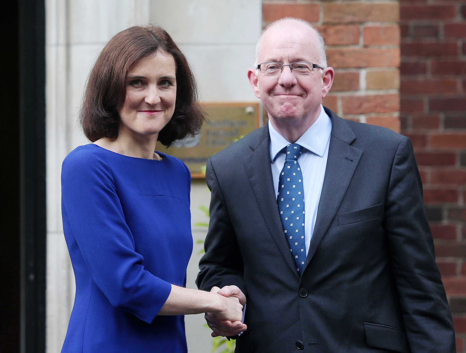 Secretary of State Theresa Villiers with Foreign Affairs Minister Charlie Flanagan meet for Stormont talks