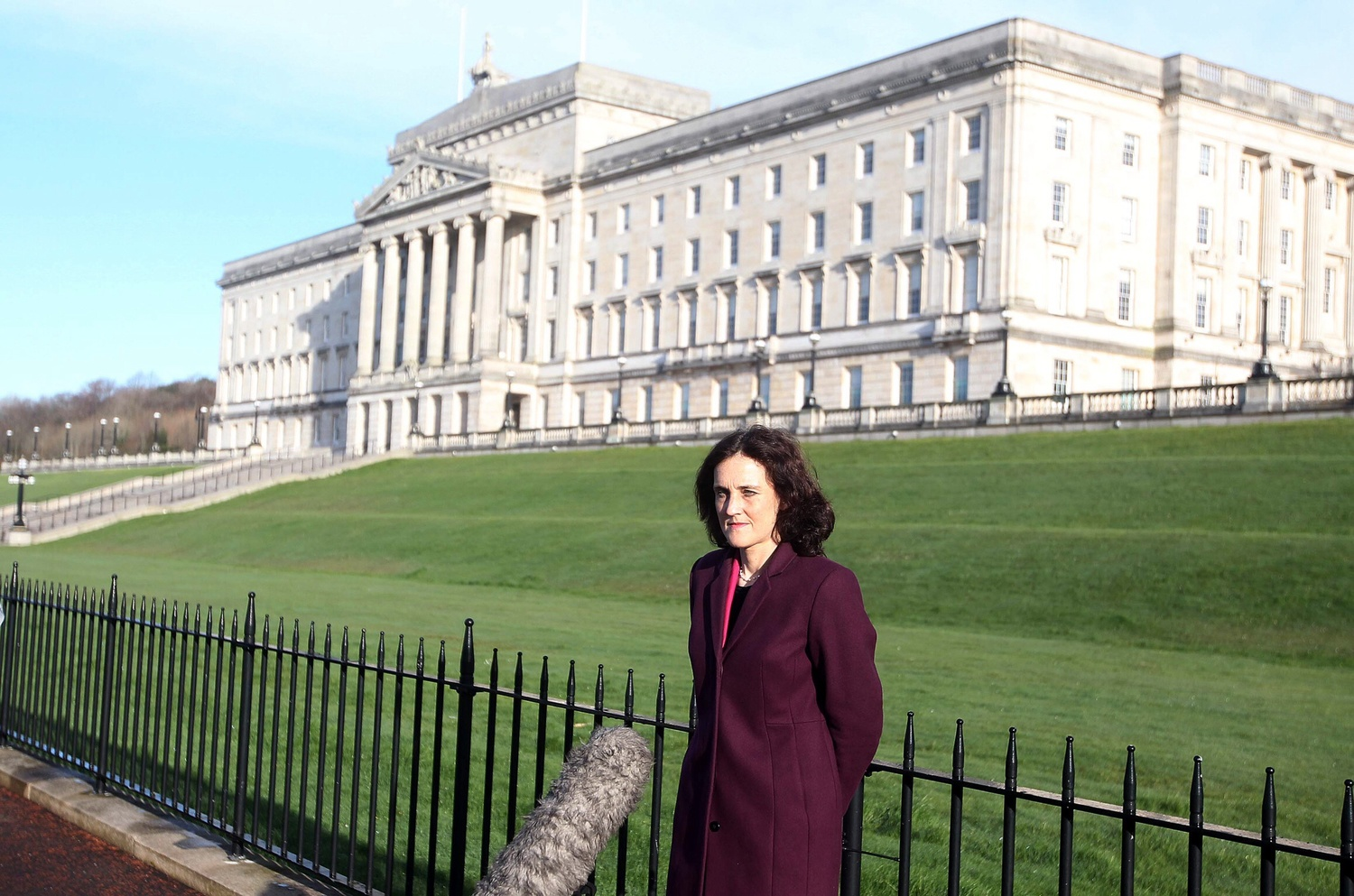 Secretary of State Theresa Villiers on a previous visit to the NI Assembly.
