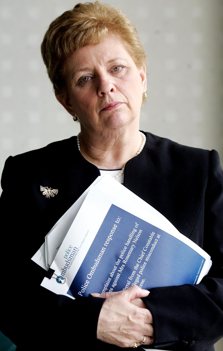 Nuala O'Loan with Rosemary Nelson report