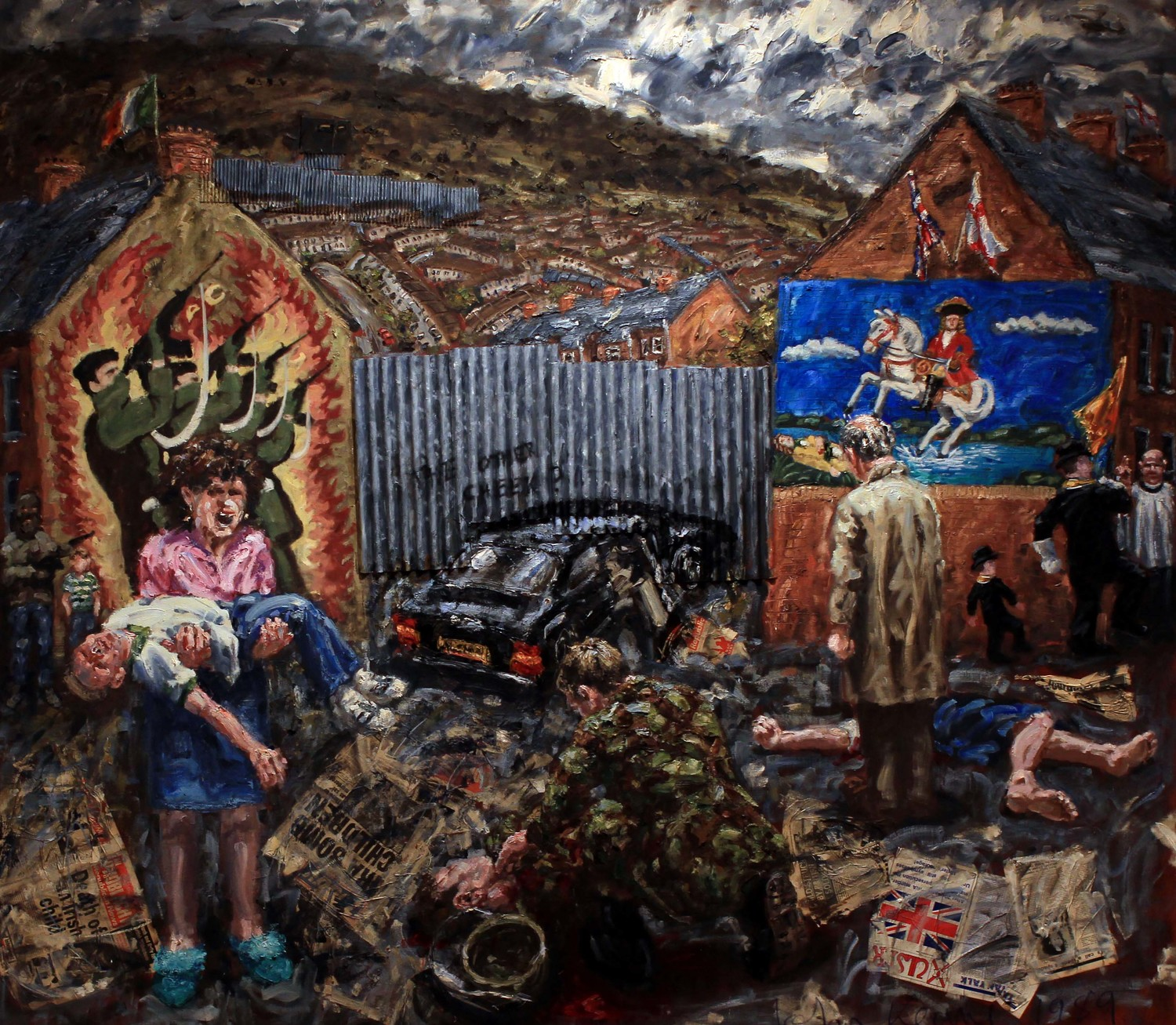 Artwork from a special Ulster Museum exhibition on The Troubles