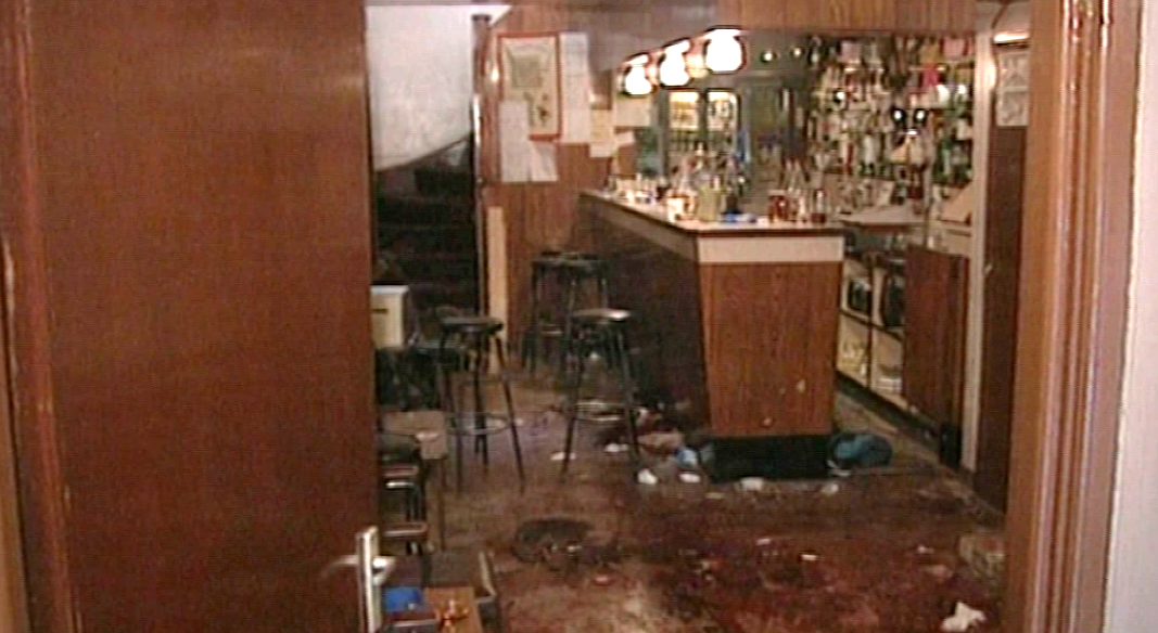 The aftermath of the shootings in the Heights Bar