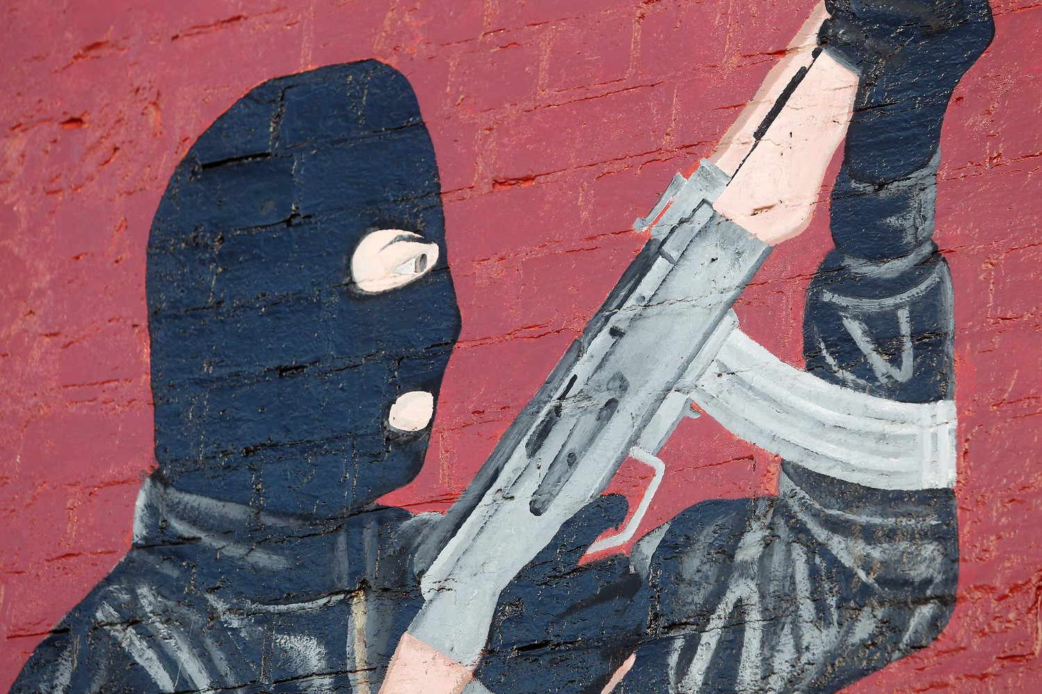 A Belfast mural dedicated to the loyalist paramilitary UVF