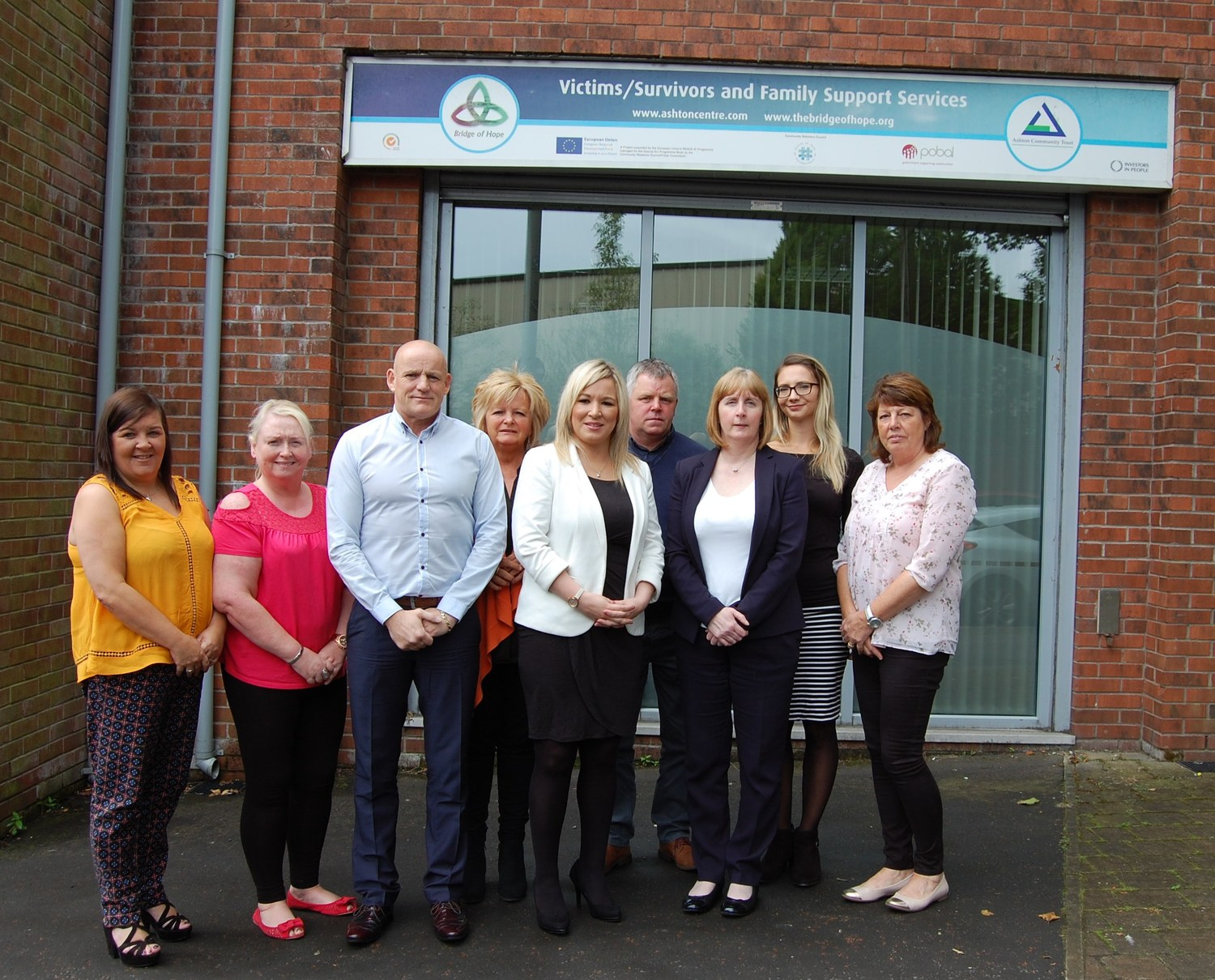 Health Minister Michelle O'Neill met with community groups at Bridge of Hope in north Belfast last month to discuss suicide prevention