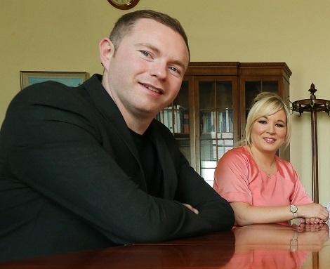 Infrastructure Minister Chris Hazzard and his Sinn Fein colleague Michelle O'Neill, Health Minister (Press Eye)
