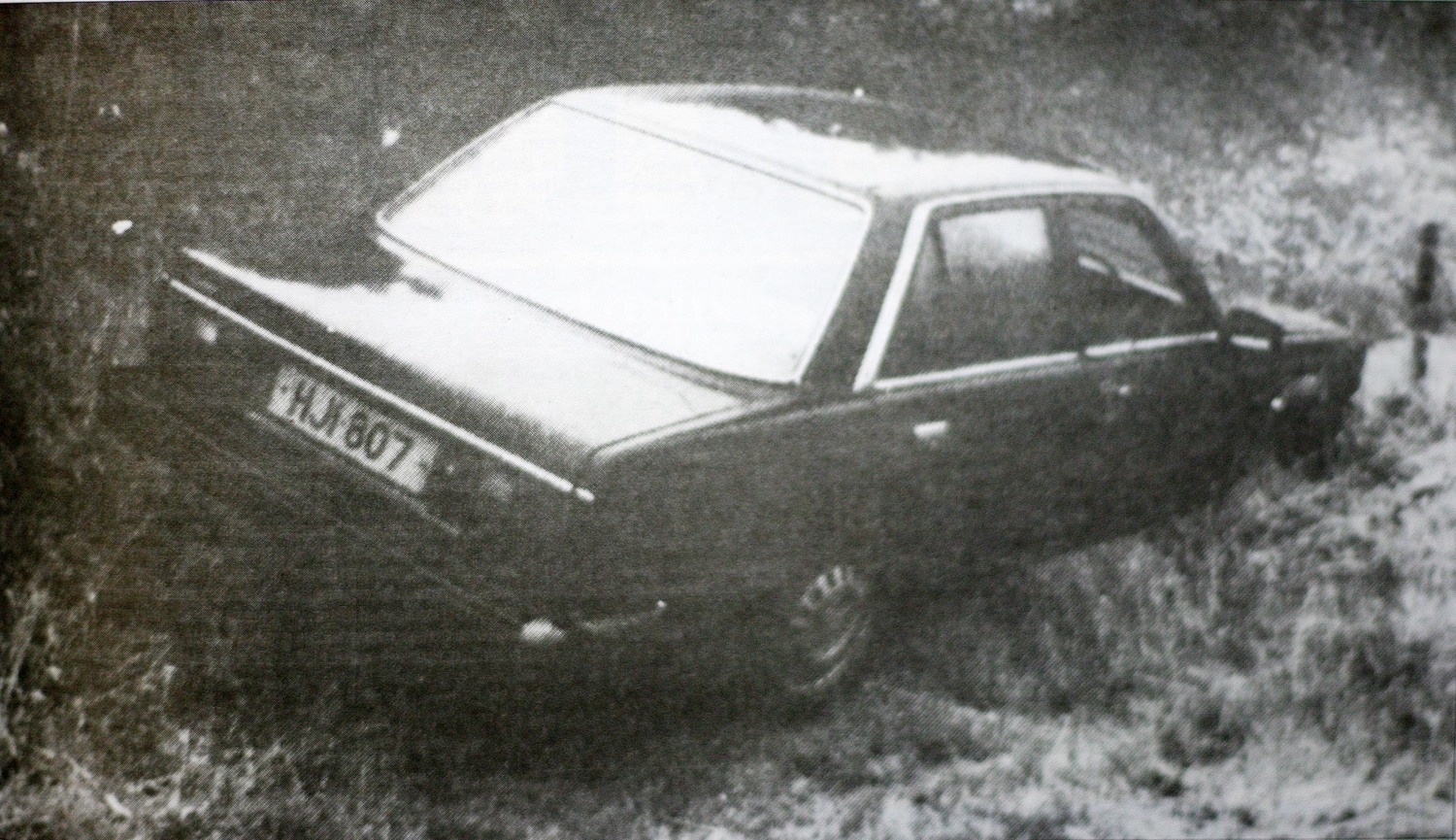The getaway car in the Loughinisland attack