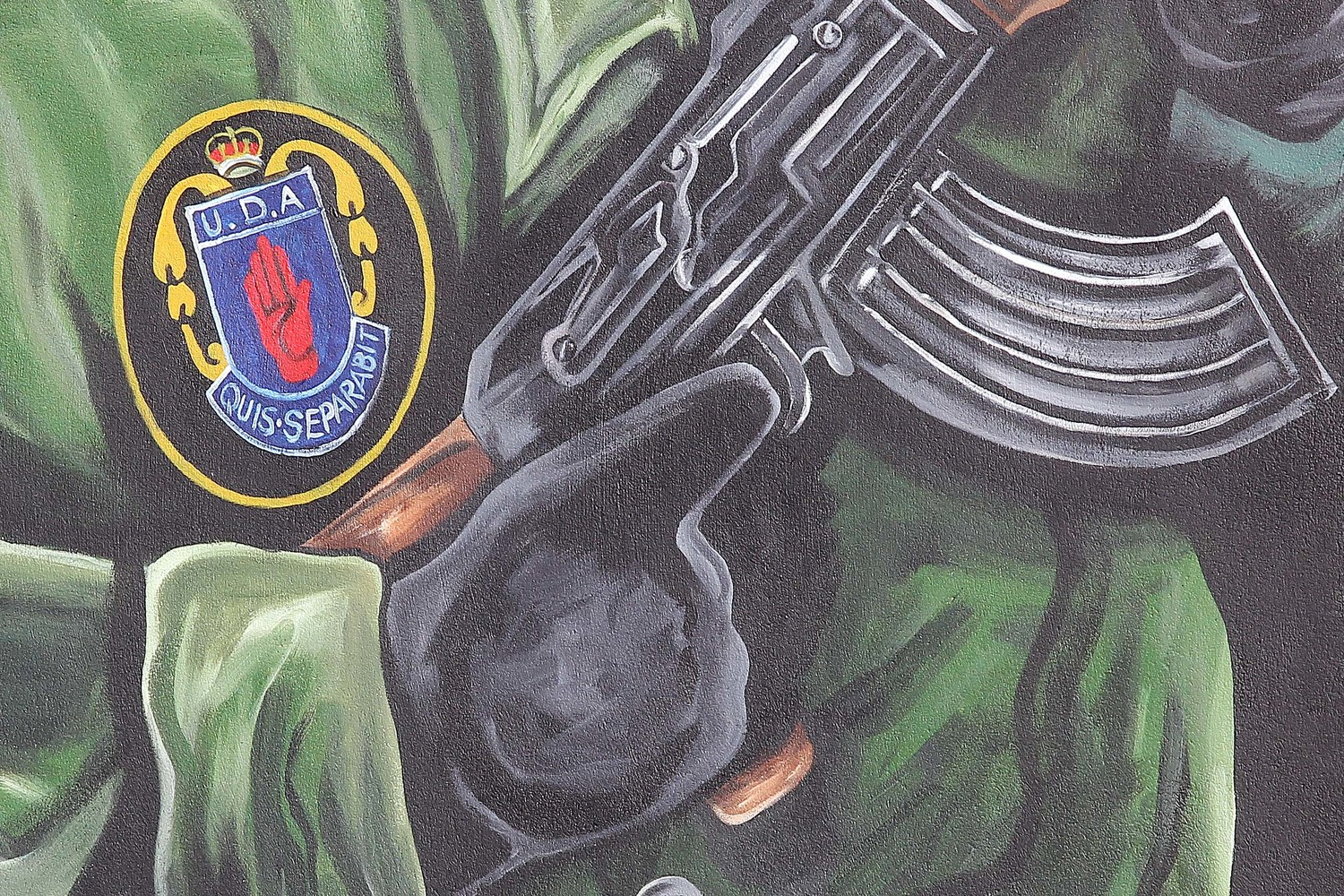 Part of a UDA mural