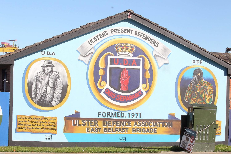 A loyalist mural in Belfast