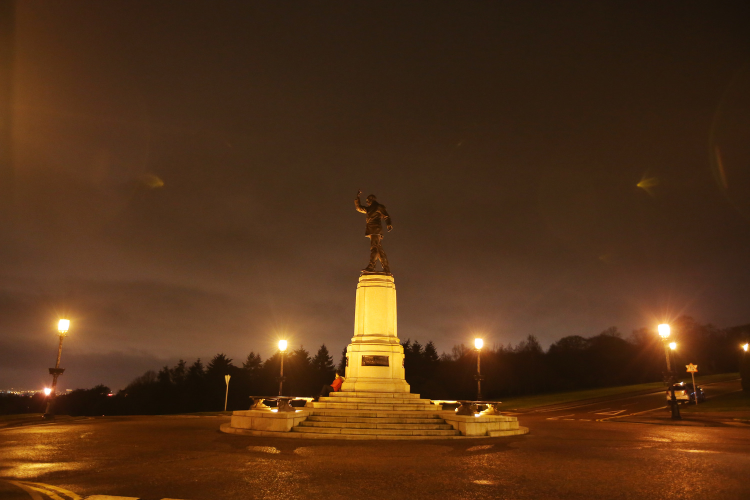 Carson's statue on the Stormont estate