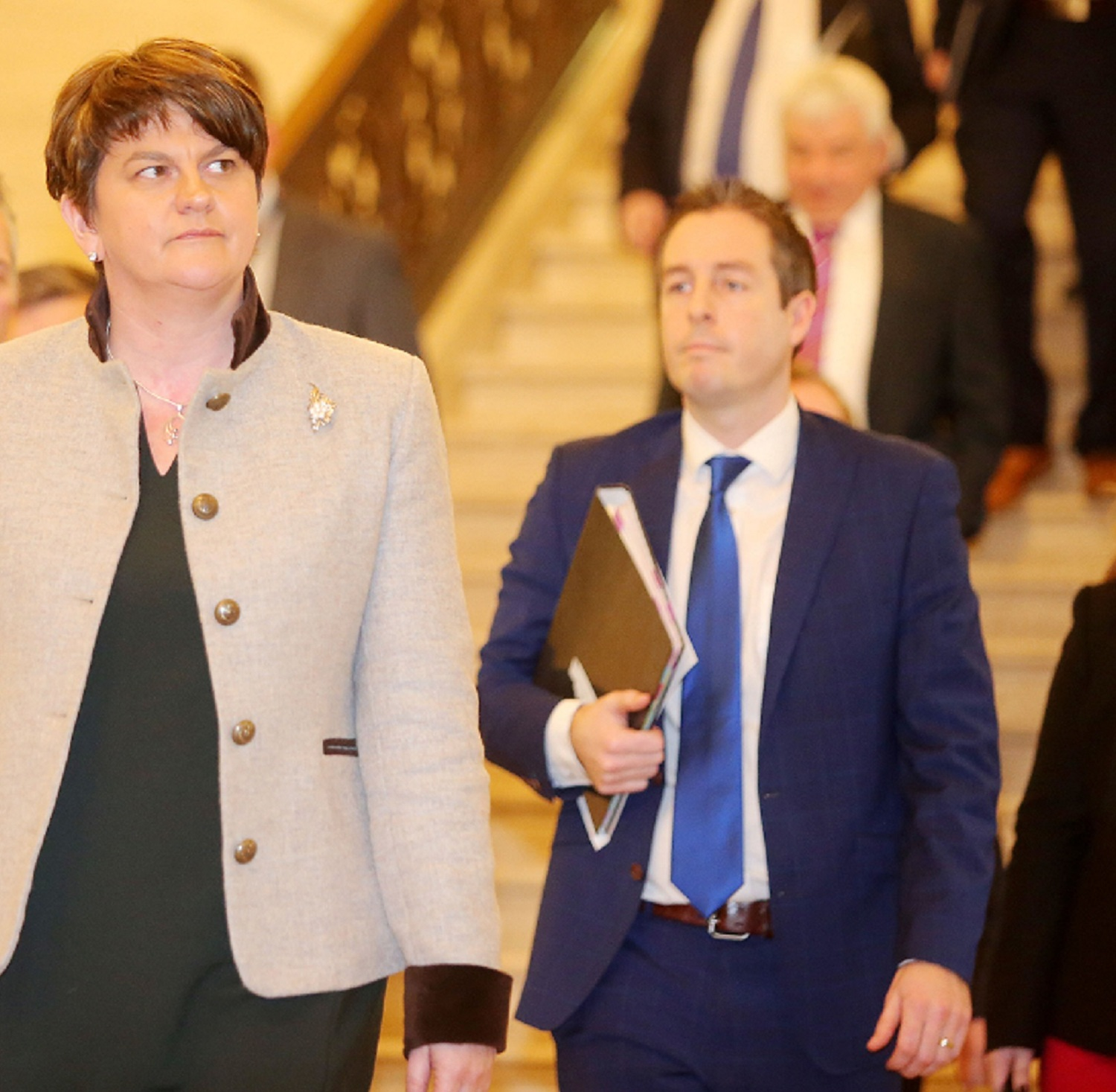 DUP leader Arlene Foster and Comunities Minister Paul Givan.
