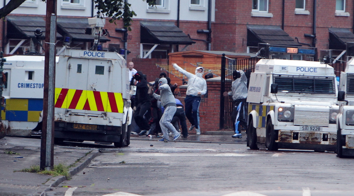 Violence flared at the Short Strand for two nights running