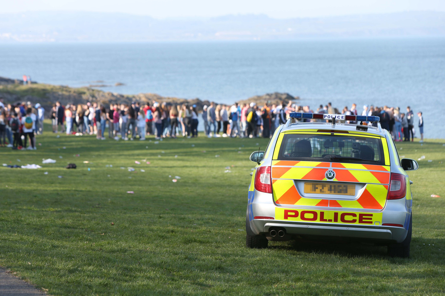 Police respond to reports of underage drinking in Crawfordsburn Park in 2015. Picture credit Press Eye.