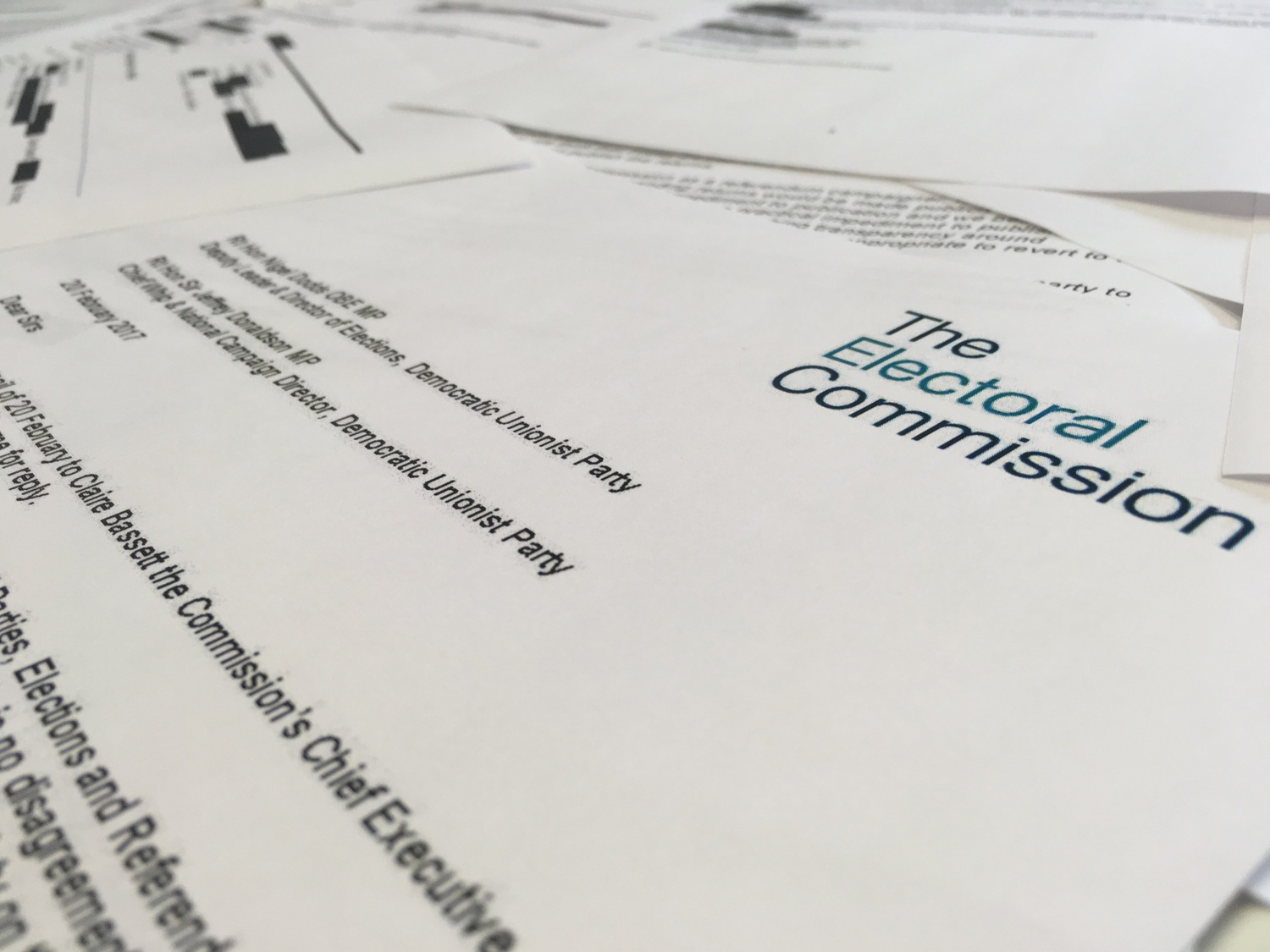 The Electoral Commission released correspondence between it and the DUP under FOI