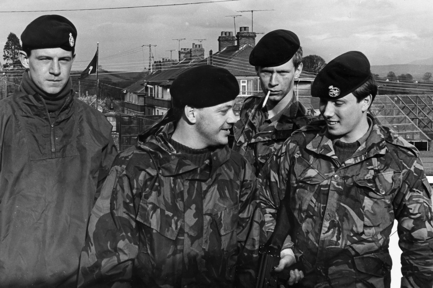 John Moore far right: His batallion arrived in Bessbrook in March 1981