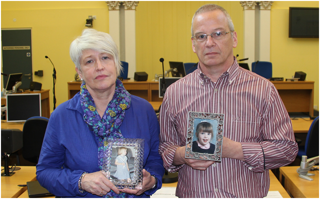 Jennifer and Alan Roberts, parents of Claire Roberts who death was examined as part of the Hyponatraemia Inquiry