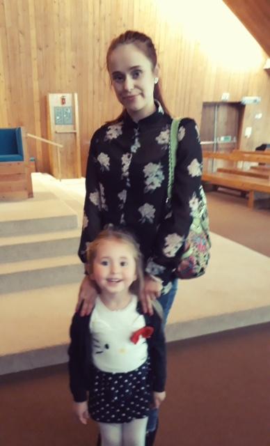 Laura Clark with her daughter Ellie