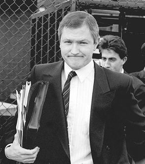 Pat Finucane leaves court in the 1980s