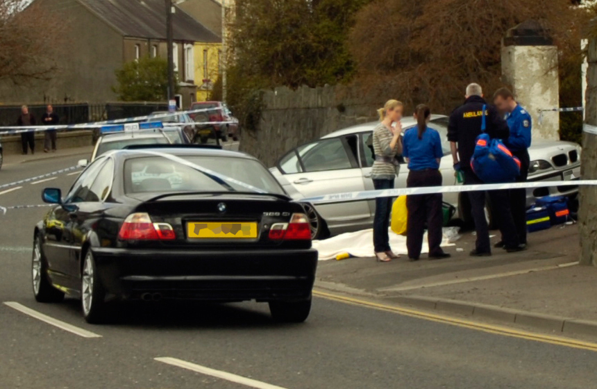 The scene of Steven Colwell's shooting in Ballynahinch