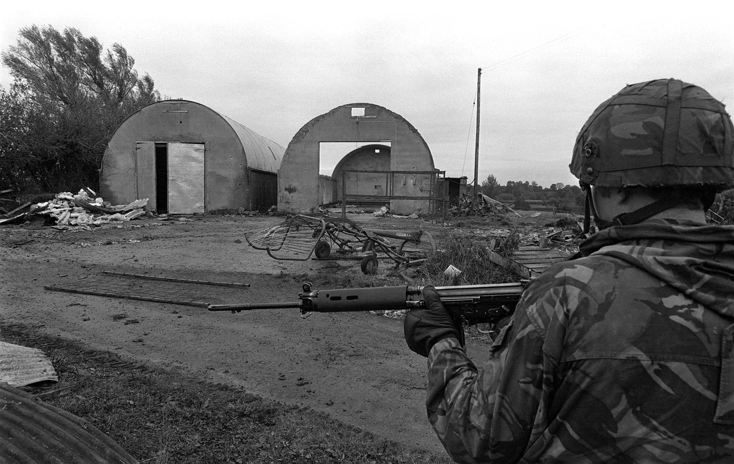 The mushroom farm where SAS soldiers shot the IRA men dead