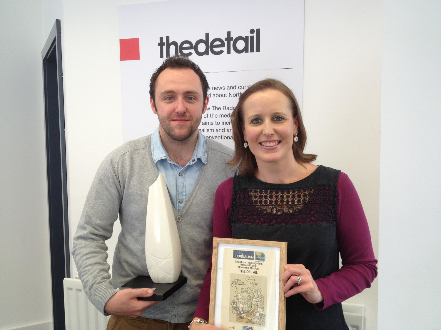 Kathryn Torney and Niall McCracken with their CIPR 2012 awards