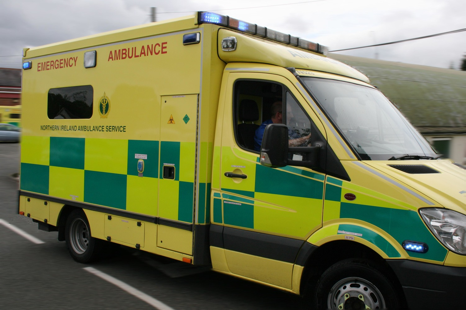 An ambulance waiting to clear a hospital is not available for other 999 calls