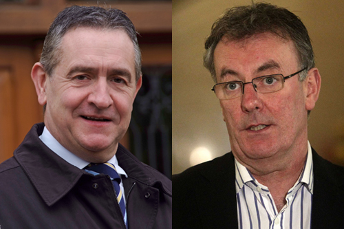 Police Federation chairman Terry Spence and Ulster Unionist leader Mike Nesbitt