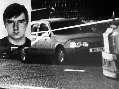 Pearse Jordan (inset) and the scene of the 1992 shooting