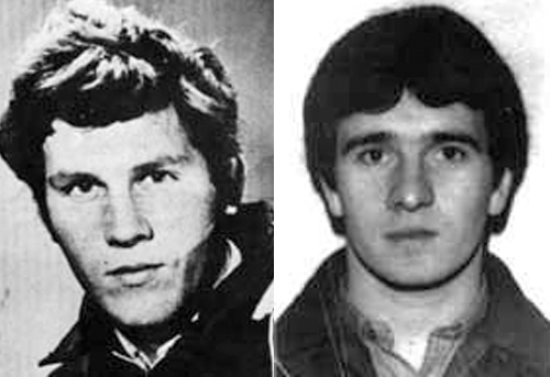 Seamus Grew and Roddy Carroll shot dead in alleged shoot-to-kill incident in December 1982