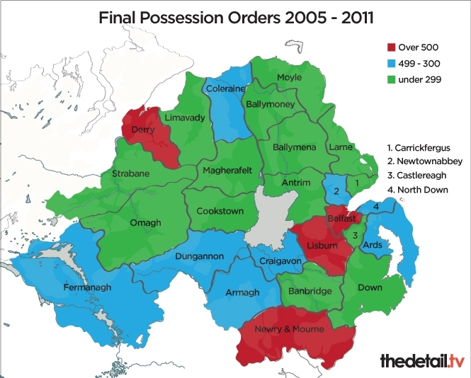 Figures provided by the Northern Ireland Court Service / Graphics Chris Scott
