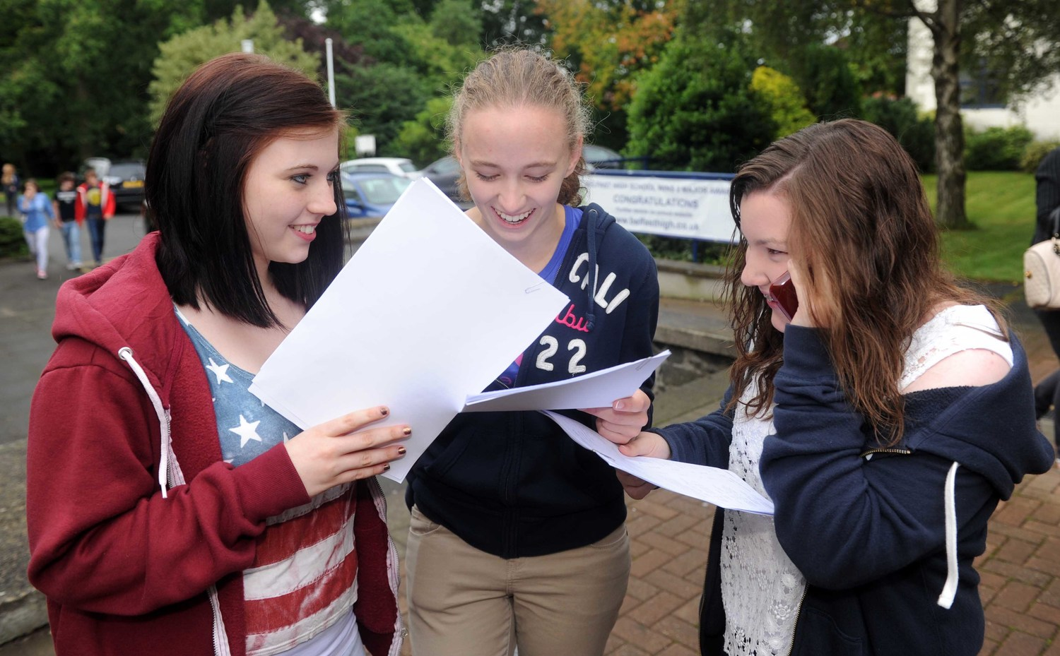 Pupils at Belfast High receive their GCSE results in August