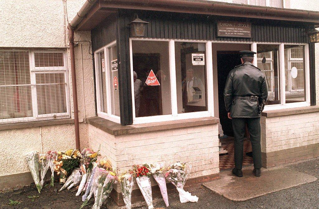 Police at the scene of the Loughinisland attack June 18,1994