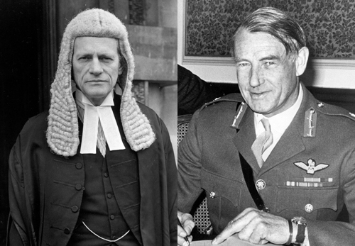 Attorney General Sir Peter Rawlinson and General Frank King